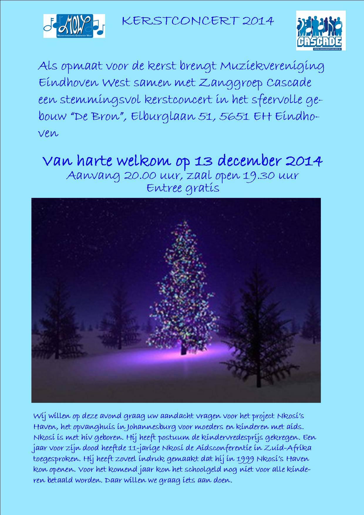 uitnodiging kerstconcert 2014